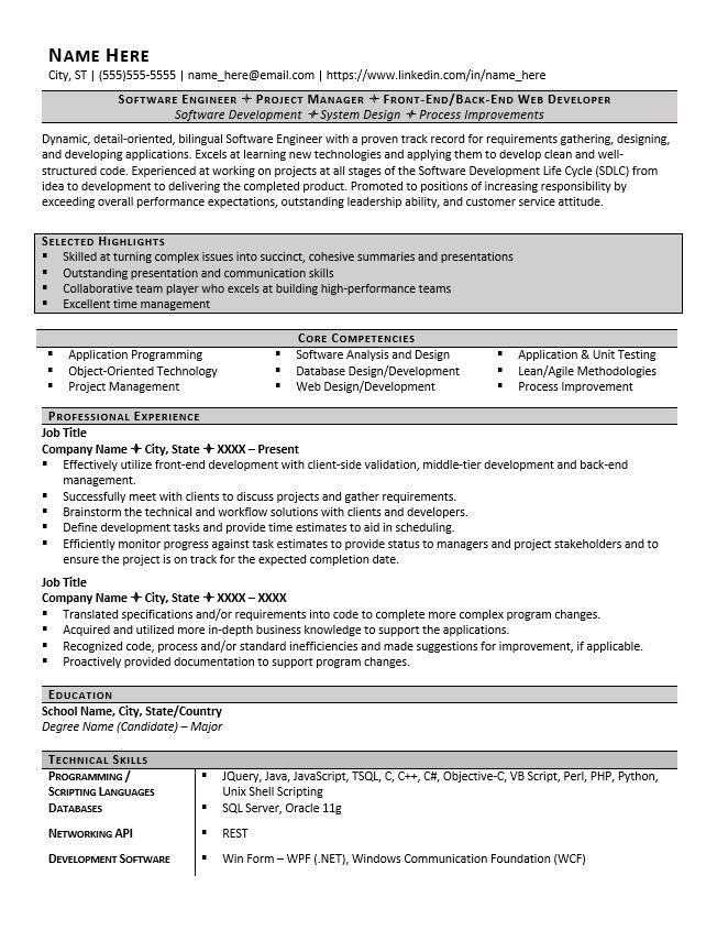 Resume Format Header Resume Software Functional Resume Samples Engineering Resume