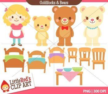 Clip Art   Goldilocks And The Three Bears  Fairy Tale Clipart