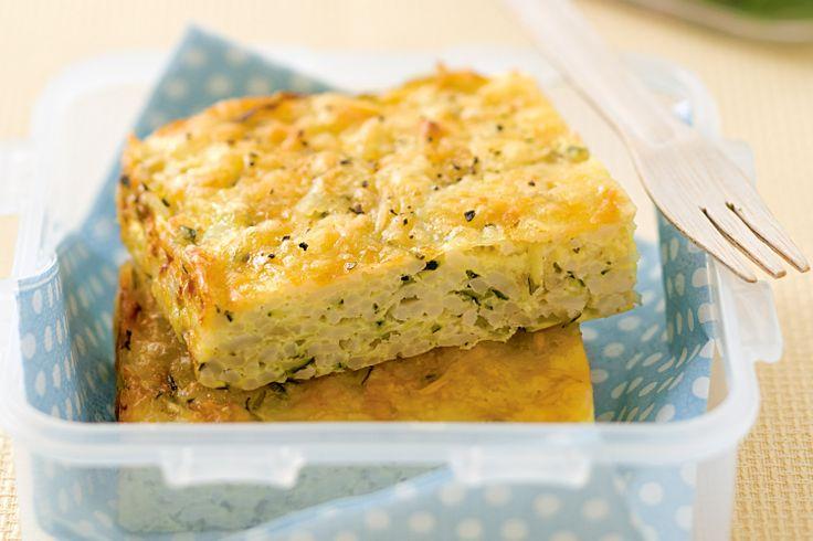 Zucchini Rice Slice Recipe - Taste.com.au