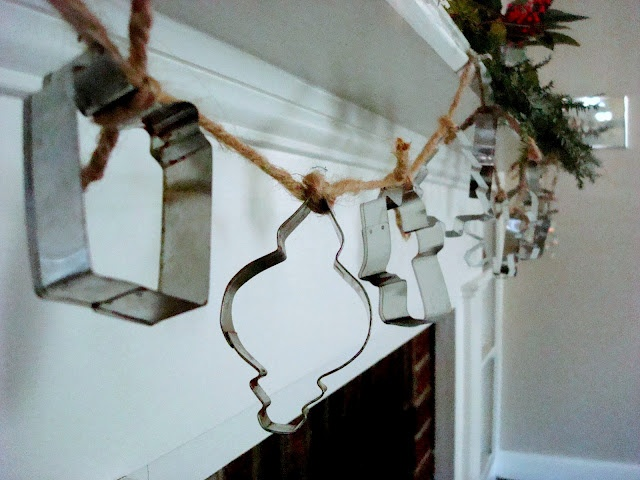 Tie old cookie cutters together with twine for a cute garland