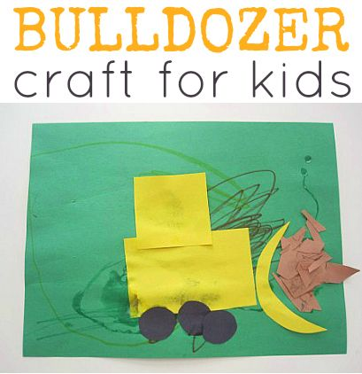 Bulldozer construction craft to complement construction books