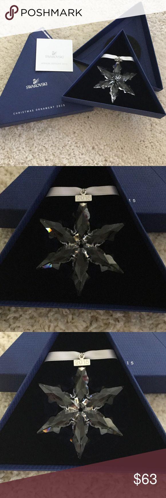 New💎swarovski Xmas Ornament 2015 2015 Snowflake Originally $7900! This Is  Brand New,