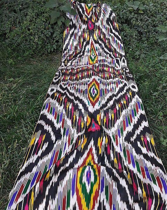 FREE SHIPPINGA piece of Uzbek handmade 3.0 meters 100% silk