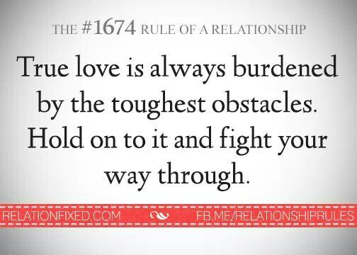 Rules of a relationship. True love