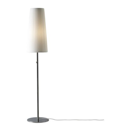 2 Ikea 365+ Lunta chrome plated floor lamps added the right amount of drama to our formal living room.