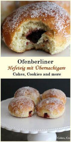 Rezept für Ofenberliner - süsser Hefeteig mit Übernachtgare #ofenberliner #hefeteig #nachtgare #süssebrötchen