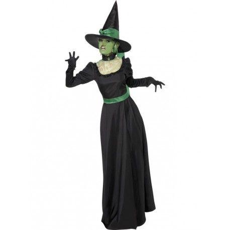 Disfraz de Bruja Mala del Oeste (Wicked Witch) para mujer para Halloween. Women's Wicked Witch costume for Halloween
