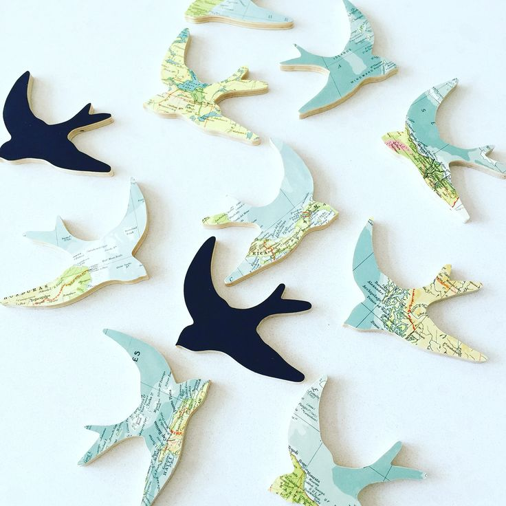 Mini swallow wall hangings