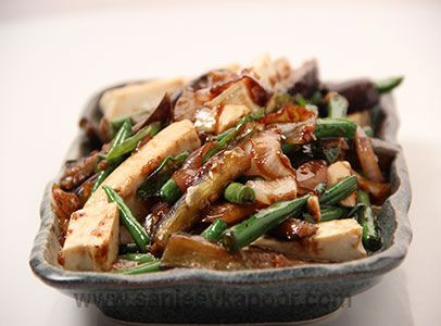 25 best continental cuisines images on pinterest kitchens sanjeev how to make stir fried eggplant with beans eggplants and french beans stir fried with beancurd forumfinder Choice Image