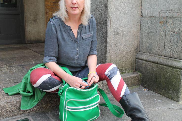 Patriotic representing. #Britain #London #streetstyle #fashionweek