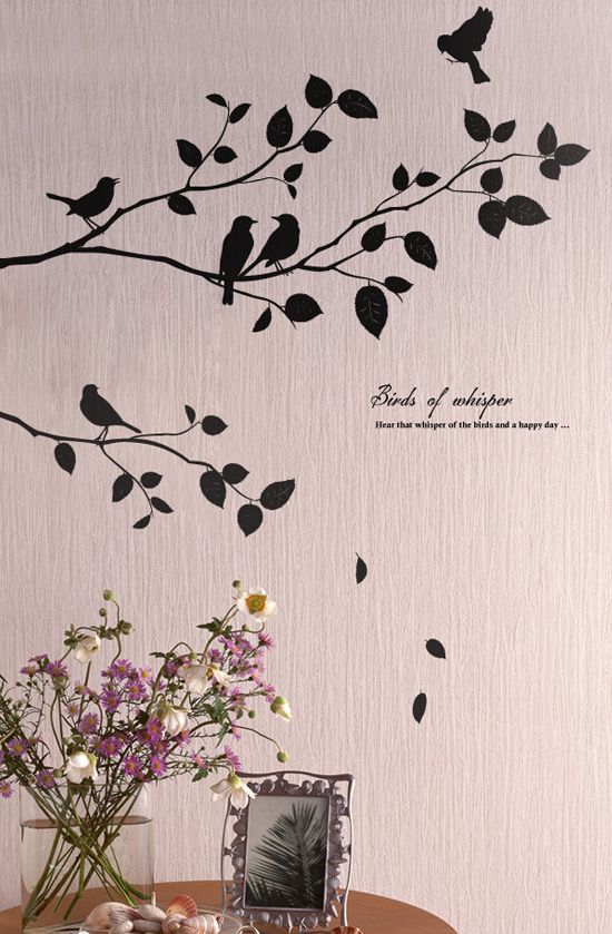 Tree Decal. Bird Wall ... Photo