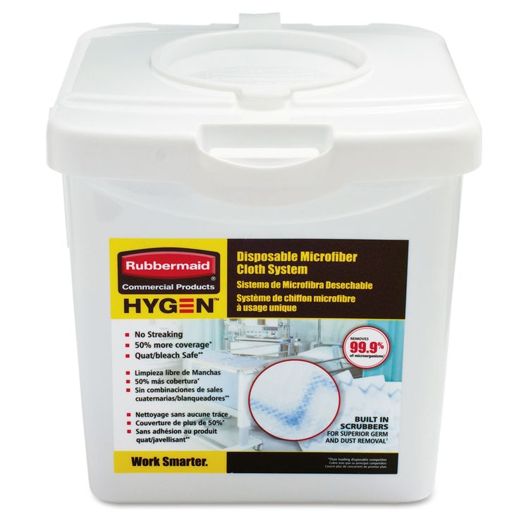 rubbermaid commercial hygen white disposable microfiber charging tub by rubbermaid - Rubbermaid Tubs