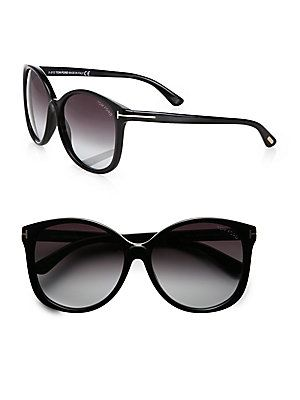 Tom Ford Eyewear Alicia Round Acetate Sunglasses