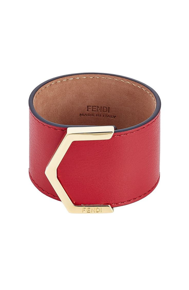 FENDI 2 JOURS LEATHER BRACELET