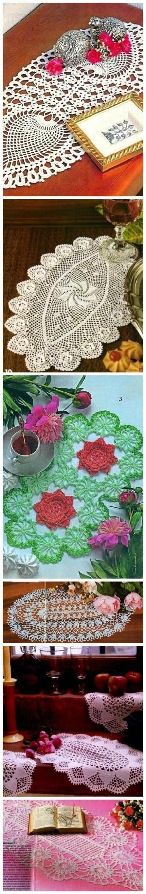 "Many free crochet doily chart, diagram patterns here. I used ""Google Translate"". by olyam.winshstr"
