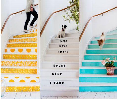 Förändra trappan permanent eller bara för en fest!