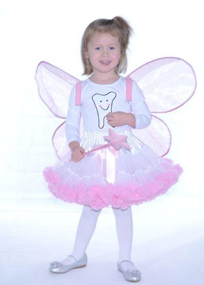 farsangi jelmez fehér  pettiskirt tütü rózsaszín fodorral tooth fairy fogtündér