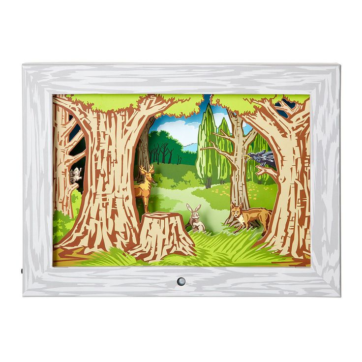 The Woodlands Moving Picture Diorama By Kikkerland This diorama moving picture…