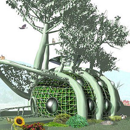 ecoarchitettura, eco architettura, architettura sostenibile, piante ed alberi in architettura, agricoltura aereoponica, aereoponico, architettura aereoponica