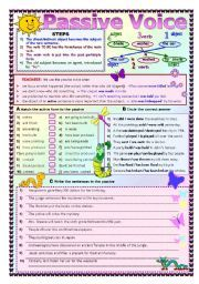 passive voice pdf exercises with answers