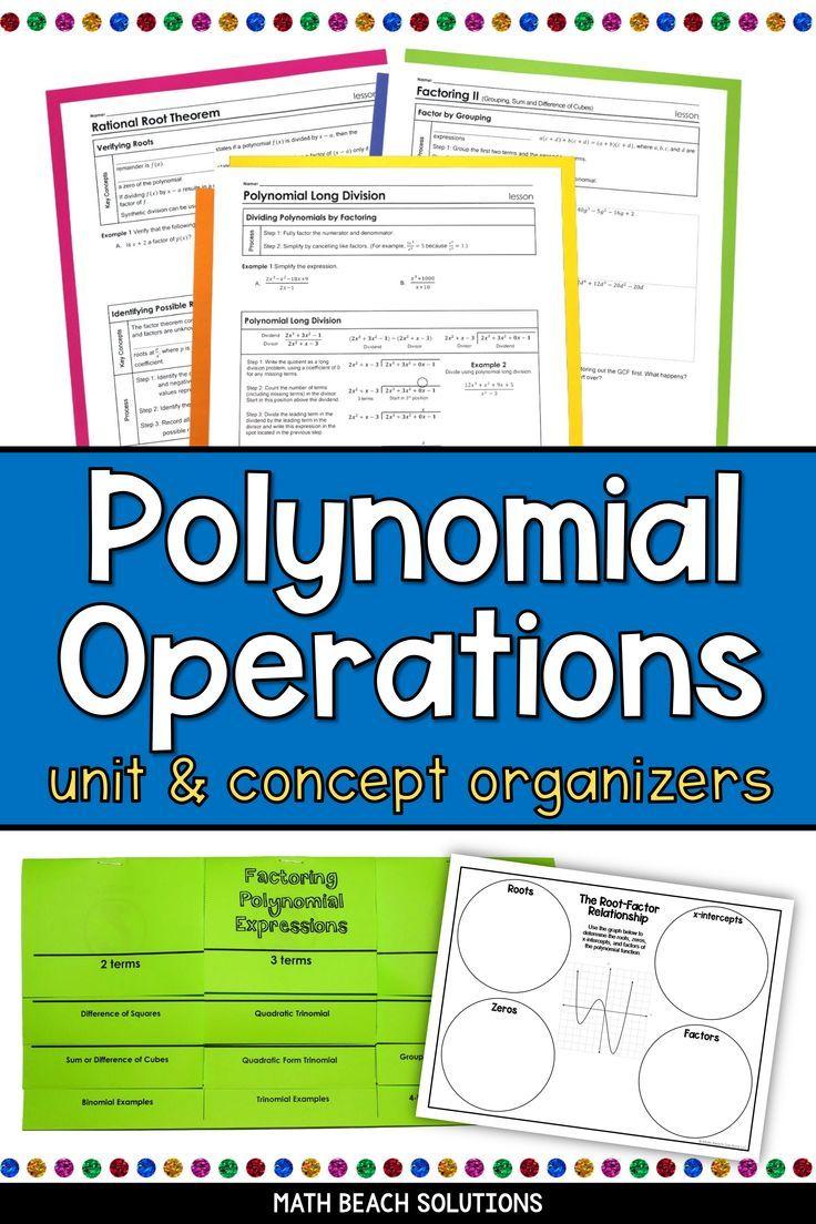 Unit 4 Activities Polynomial Operations Texas Algebra 2 Curriculum In 2020 Polynomials Factoring Polynomials Factoring Quadratics