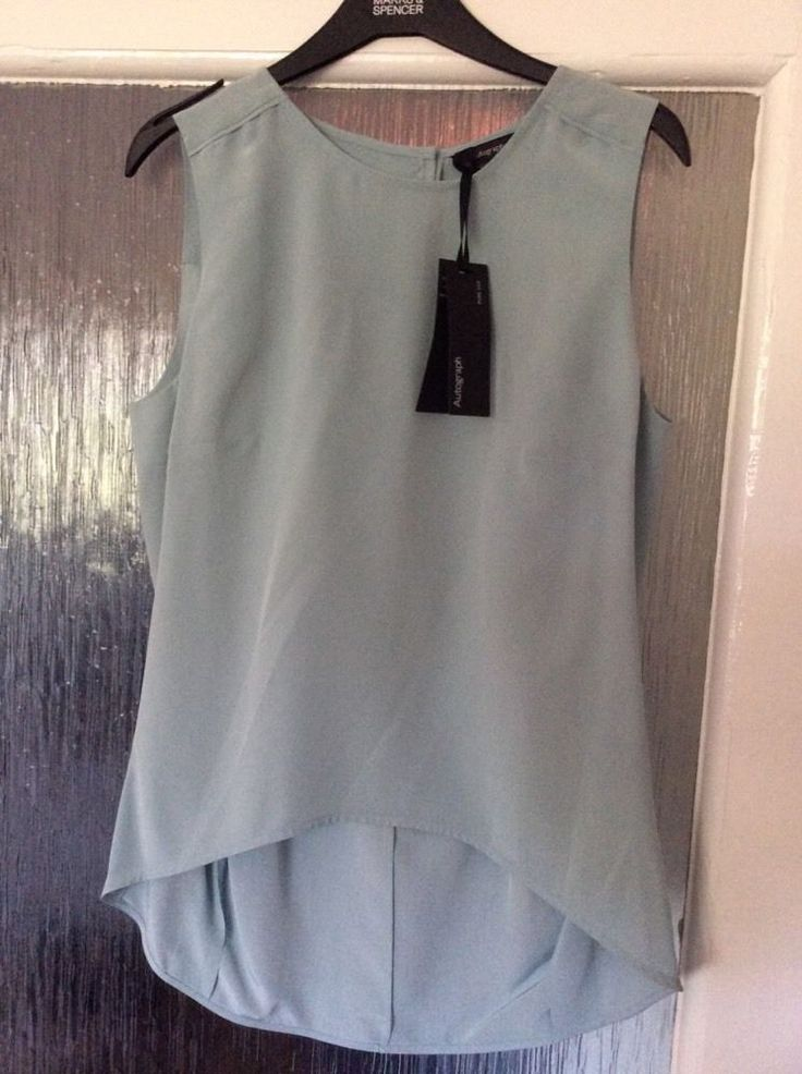 M&S AUTOGRAPH Top 100% PURE SILK UK12 EU40 Immaculate Fit BNWT Machine Washable | eBay