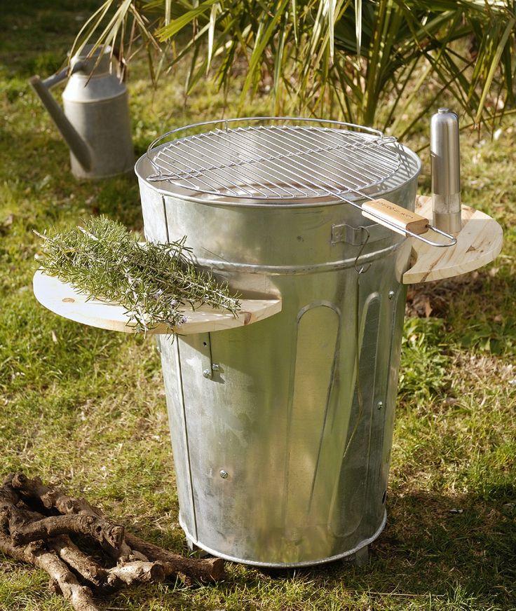 Transformer une poubelle en barbecue