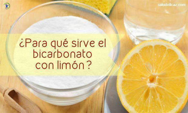 Agua con limon y bicarbonato para dolor de estomago