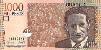 Prezzi e Sconti: #Cambio euro peso colombiano 1 ; 2.869450 cop  ad Euro 12869.45 in #Forexchange #Colombia
