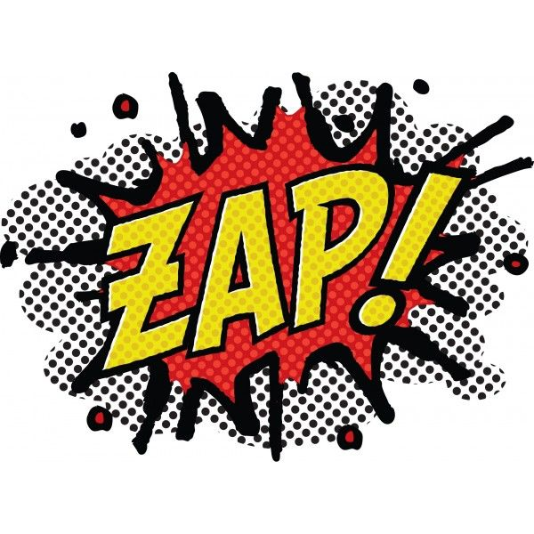 Zap comic book style | Pow! Bam! Wham! Zap! Boom