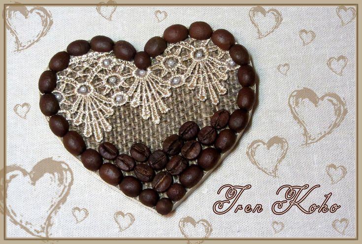 Магнит-Валентинка с ароматом кофе!