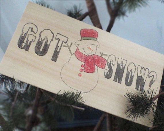 Wood snowman sign-Christmas sign-Christmas wall by Thequirkyimage