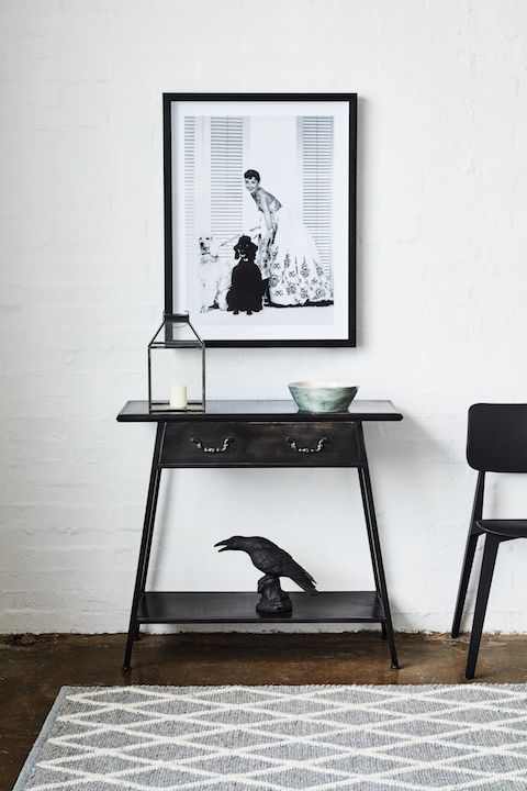 Our Black Beauty - Simple, sleek and industrial, the Neo Hall Table is all about urban elegance.
