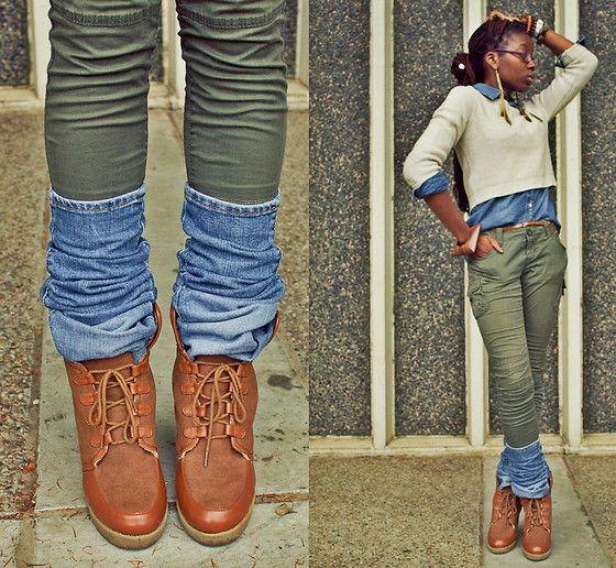 H Skinny Cargos Diy Denim Legwarmers | Favorite Looks | Pinterest | Hu0026m DIY And Crafts And Skinny