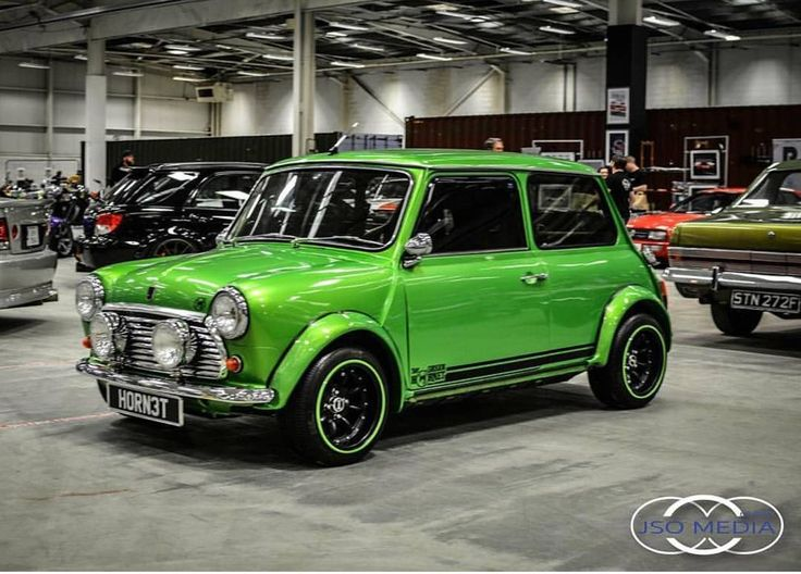 My wee mini stood out alright at #Districts automotive show over the weekend #carshow #ilovebass #B&Q #S13 #classicmini #classiccar #greenhornet #gtini #autofinesse photo cred: @slammedphotos