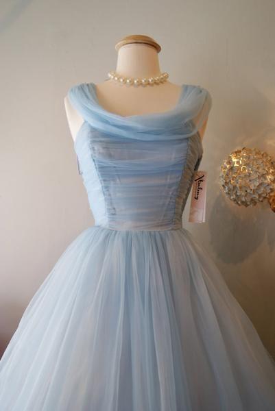 Vintage Homecoming Dress,1950s Prom Dress,Homecoming Dress Vintage,Blue Homecoming Dress,Vintage Prom Dress,1950s Prom Dress,SSD010