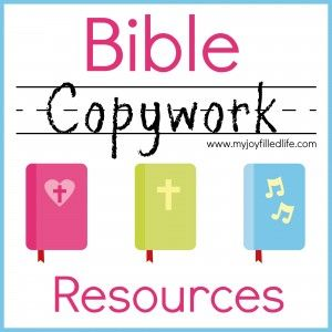 Bible Copywork Resources