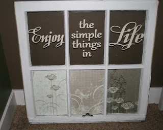 Old window vinyl sayings cute wall decor my home for Old window panes craft ideas