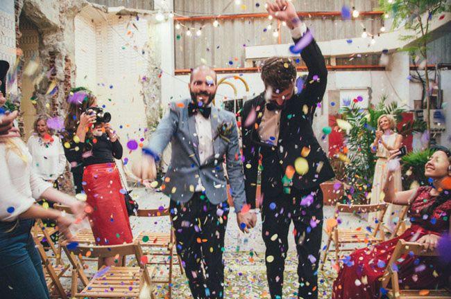 Wedding ceremony send-off ideas   Confetti blast