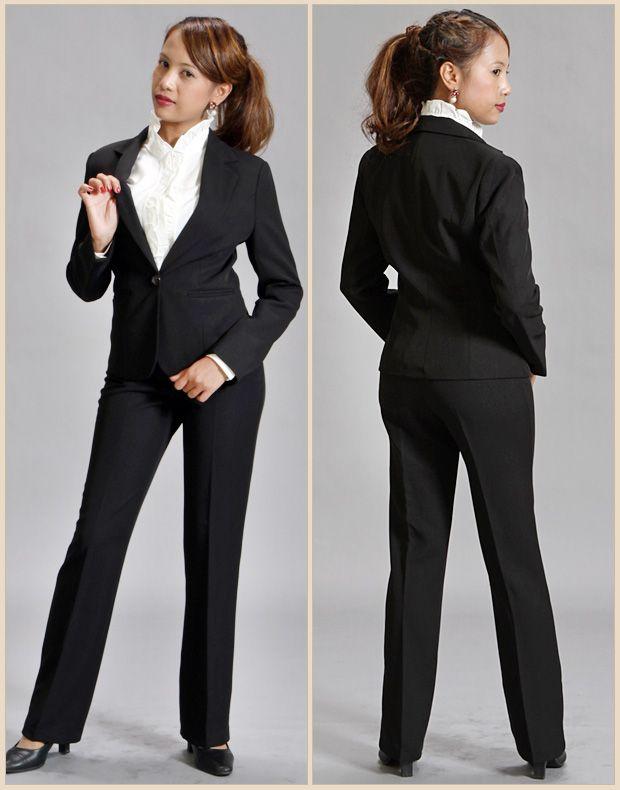 【楽天市場】【送料無料】 パンツスーツ!【ブラックフォーマルにもOK】※リクルート スーツ! 激安レディース パンツスーツ!就職活動 フレッシュスーツ 制服にいかがですか?【smtb-KD】 TP24560:MARINO