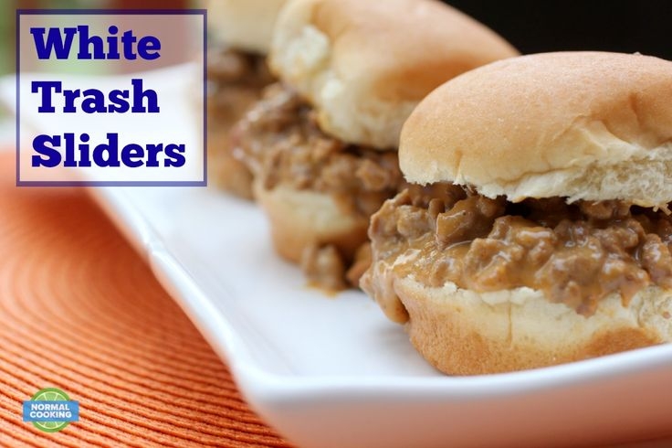 White Trash Sliders - Inspired by White Trash Dip, it's like a sloppy joe with cheese and chili! Perfect for football parties! These were amazing!