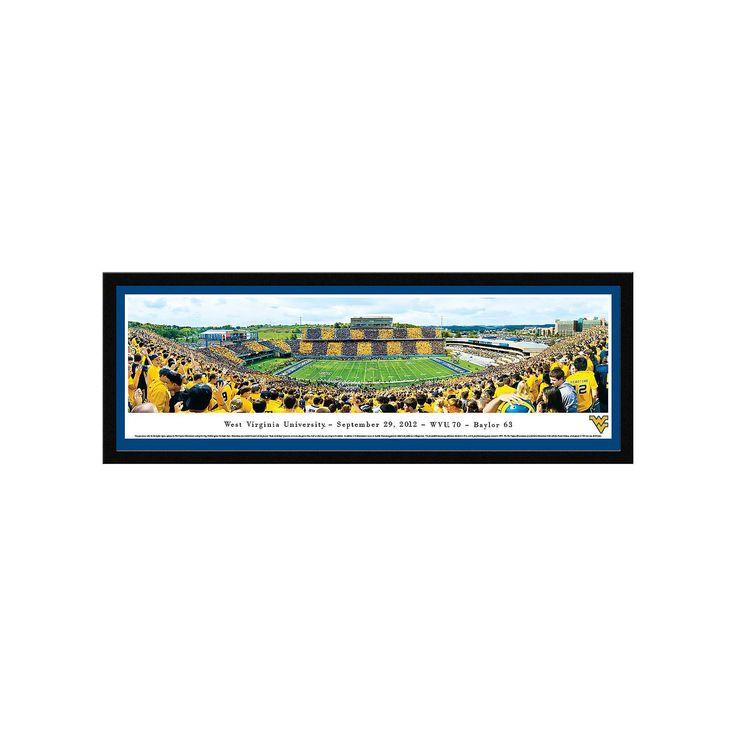 West Virginia Mountaineers Football Stadium 50-Yard Line Framed Wall Art, Multicolor