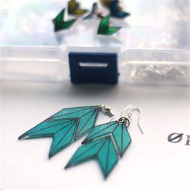 Make your own earrings from shrinking plast - se here how.