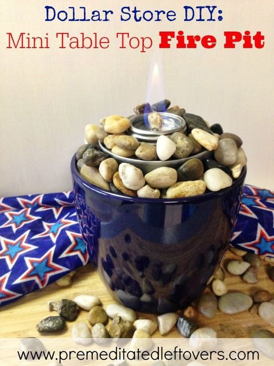 Wonderful How To Make A Tabletop Fire Pit With A Planter, Rocks, And A Chafing Fuel  Cup. Use This Easy Tutorial To Make A Mini Tabletop Fire Pit For Summer  Parties.