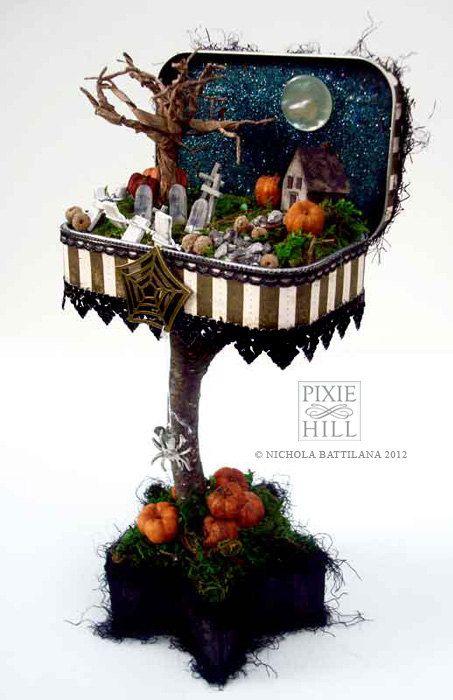 Altered Altoid Tin with Tiny Spooky Scene. $65.00, via Etsy.