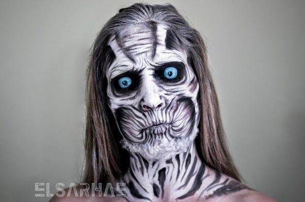 Galaxy Fantasy: Maquillaje de White Walker de Juego de Tronos y otros personajes de ficción realizados por Elsa Rhae