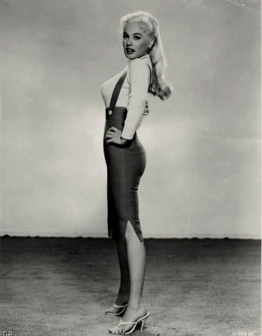Mamie Van Doren (in what looks like one of her costumes from Girls Town)