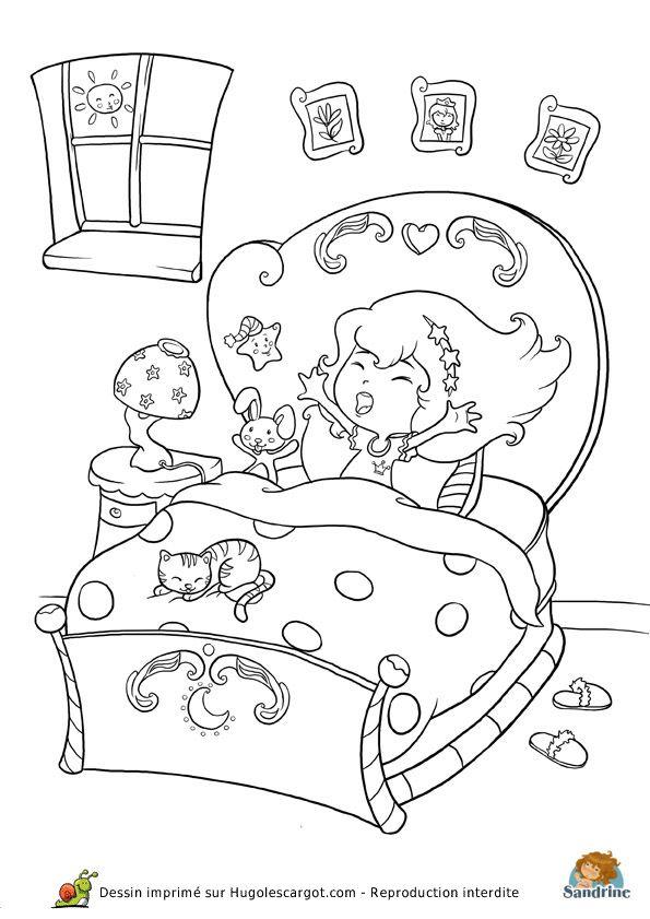 Les 108 meilleures images du tableau coloriage de princesses sur pinterest coloriage de - Dessin mural chambre fille ...