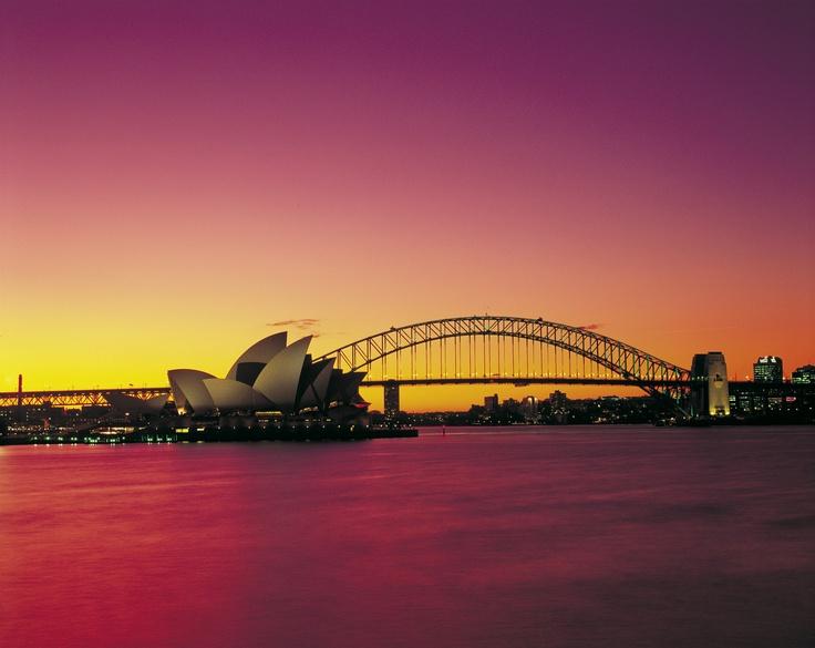 Sunset in Sydney, Australia. Pure gold!