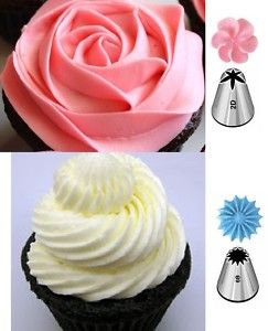 flower icing tips | Wilton 2D & 6B Icing Nozzles / Tips for Cakes & Cupcakes | eBay